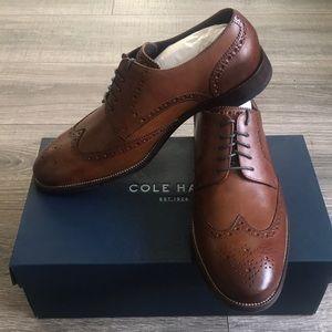 Cole Haan men's wingtip dress shoes